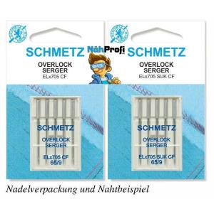 SCHMETZ ELx705 CF SUK NM 80 5er Over-/Coverlock