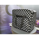BabySnap Overlocktasche XL, dotty schwarz, 44x37x41 cm