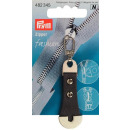 Prym Fashion-Zipper Leder/Metall grau