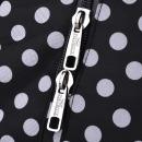 Overlocktasche Polka Dots schwarz, 36x39x32 cm
