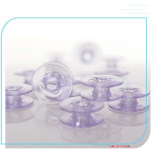 Pfaff Spulen 10er Set lila transparent - für expression und Weitere
