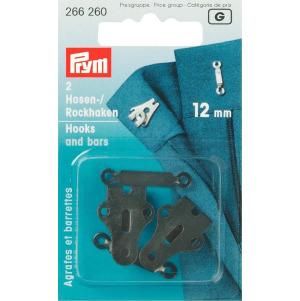Prym Hosen/Rockhaken und Stege ST 12 mm schwarz
