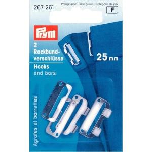 Prym Rockbundverschlüsse ST 25 mm silberfarbig