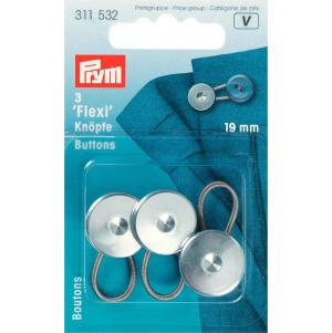 Prym Flexi-Knöpfe mit Schlaufe 19 mm