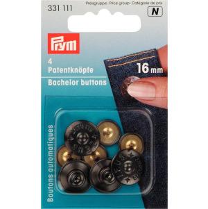 Prym Patentknöpfe Zeus MS 16 mm schwarz 4 Stück