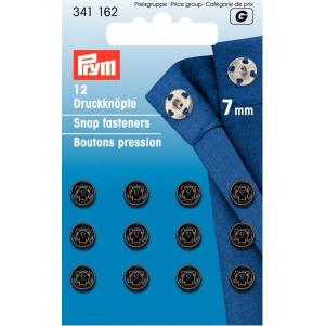 Prym Annäh-Druckknöpfe MS 7 mm schwarz 12 Stück