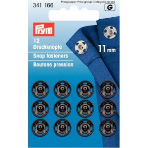 Prym Annäh-Druckknöpfe MS 11 mm schwarz 12 Stück