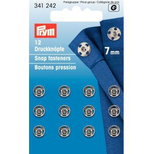 Prym Annäh-Druckknöpfe MS 7 mm silberfarbig 12 Stück