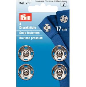 Prym Annäh-Druckknöpfe MS 17 mm silberfarbig 4 Stück