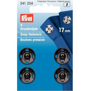 Prym Annäh-Druckknöpfe MS 17 mm schwarz 4 Stück