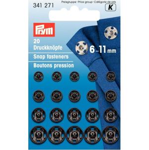Prym Annäh-Druckknöpfe MS 6-11 mm schwarz 20 Stück