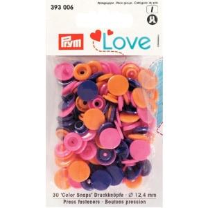 Prym Love Druckknopf Color KST 12,4mm orange/pink/violett