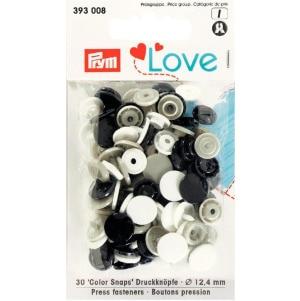Prym Love Druckknopf Color KST 12,4mm marine/grau/weiß