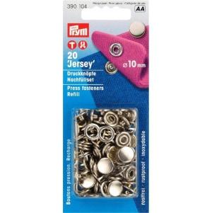 Prym NF-Nachfüllp. Für 390120 MS gl. Kappe 10 mm silberfarbig 20 Stück