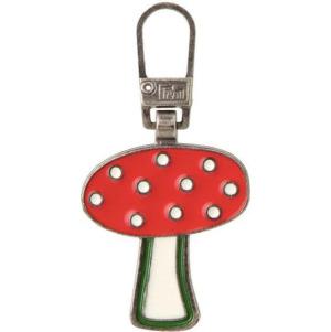Prym Fashion-Zipper f.Kinder Pilz rot/weiß