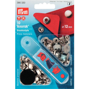 Prym NF-Druckknopf Anorak MS 12 mm silberfarbig 10 Stück