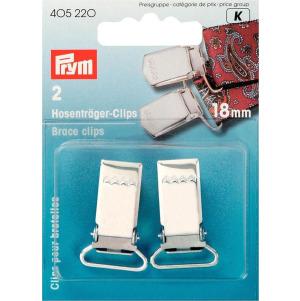 Prym Hosenträger-Clips ST 18 mm silberfarbig 2 Stück