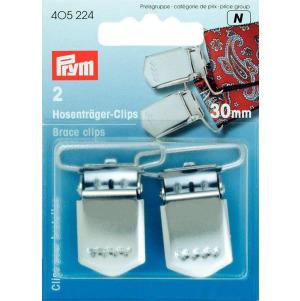 Prym Hosenträger-Clips ST 30 mm silberfarbig 2 Stück