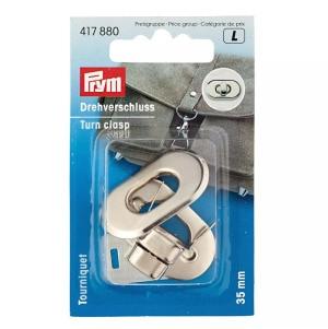 Prym Drehverschluss für Taschen 35 x 20 mm silberfarbig