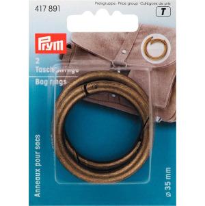 Prym Taschenringe 35 mm altmessing
