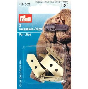 Prym Pelzhaken-Clips 2 Stück beige Leder