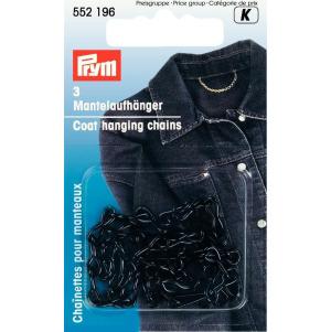 Prym Mantelaufhänger Kette schwarz 3 Stück