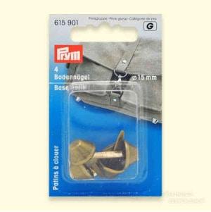 Prym Bodennägel für Taschen 15 mm altmessingfarbig, 4er Pack