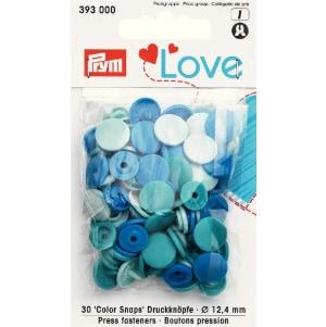 Prym Love Druckknopf Color KST blau 12,4mm