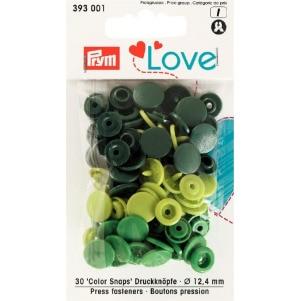 Prym Love Druckknopf Color KST grün 12,4mm