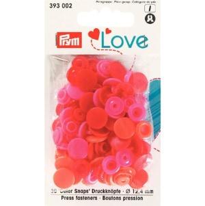 Prym Love Druckknopf Color KST rot 12,4mm