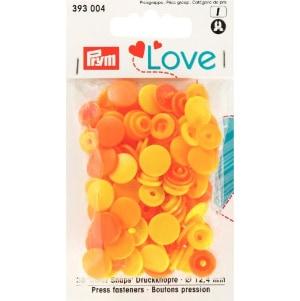 Prym Love Druckknopf Color KST gelb 12,4mm