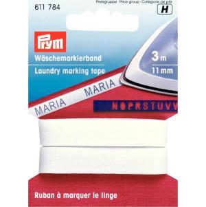 Prym Wäschemarkierband aufbügelbar 11 mm/3 m weiß