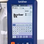 Brother VR Stickmaschine mehrzeiliger Text