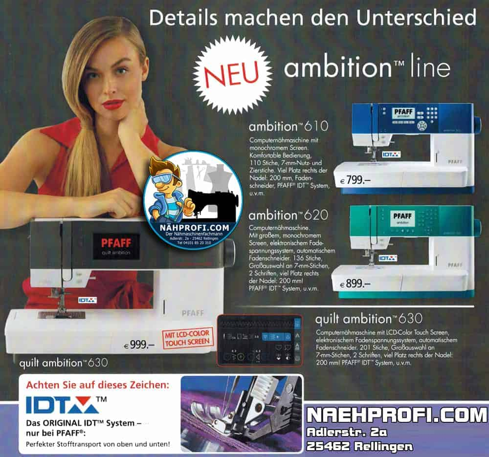 PFAFF Ambition und Expression Aktionstage