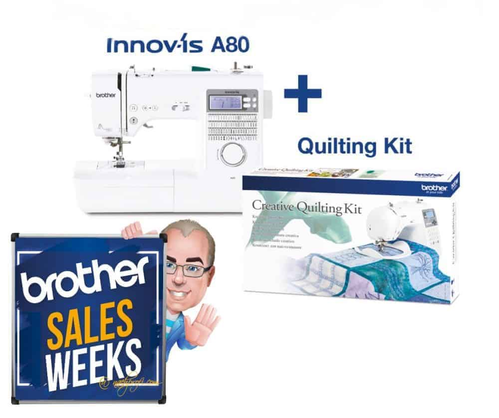 Brother SALES WEEKS: BROTHER Innov-is A80 Nähmaschine inklusive Creative Quilting Kit